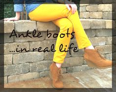 How to Wear Ankle Boots - wedges, flats, and heels (with outfit examples)