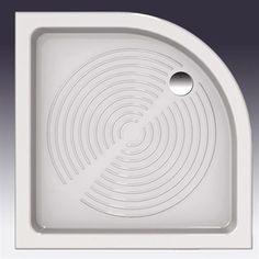 Elara 80 Brusekar med buet front i porcelæn.  DESIGN4HOME #brusekar #brusebund #badeværelse Tableware, Dinnerware, Tablewares, Place Settings