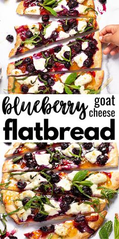 This delicious fruit-forward blueberry flatbread is loaded with apricot jam, creamy goat cheese, sweet honey, and fresh mint. It's the perfect vegetarian appetizer or dessert to use up those fresh, ripe blueberries this summer! Summer Recipes, New Recipes, Vegan Recipes, Dinner Recipes, Cooking Recipes, Favorite Recipes, Summer Entrees, Summer Appitizers, Summer Vegetarian Recipes