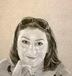 Title  Natalie Walters   Artist  Mojgan Jafari   Medium  Painting - Pastel Pencil On Paper #portrait .. Wonderful! @moongalleryca