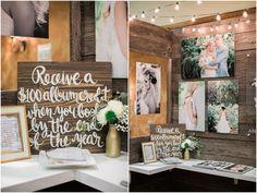 My wedding showcase booth! www.ashleycookphotography.com