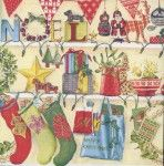 Decoupage Paper Napkins | Christmas Stockings and Decorations | Noel Napkins | Christmas Napkins | Paper Napkins for Decoupage