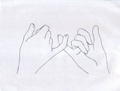 pinky promise outline for embroidery