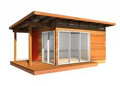All Modern-Shed Prefab Cabin Kits are pre-fabricated in our factory & arrive panelized, ready for installation. Prefab Cabin Kits usually ship in weeks
