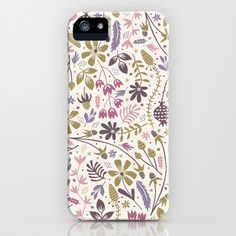 Vintage Blooms  iPhone & iPod Case by Anna Deegan - $35.00