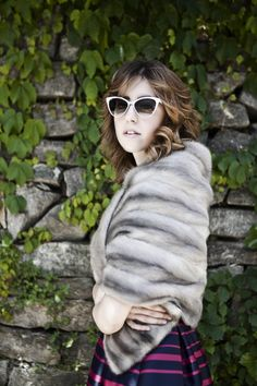 The Stole a warm embrace find out more here: ww.welovefur.com #stole #fur #furs #ladyfur #mink #fox #sunglasses #chic