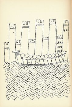 "116: ""Galley With Buildings"" by Ben Shahn by Scott Lindberg, via Flickr"