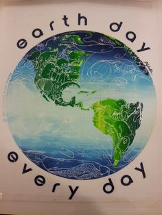 1990 Earth Day Every Day final design on paper.