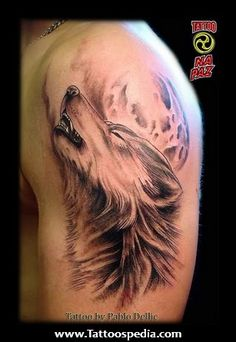 Howling%20Wolf%20Tattoos%20For%20Men%201 Howling Wolf Tattoos For Men