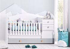 Κούνια πολυκρέβατο Bird House 2234 Small Drawers, Convertible Crib, Baby Safety, Baby Essentials, Baby Cribs, Design Awards, Toddler Bed, House, Modern