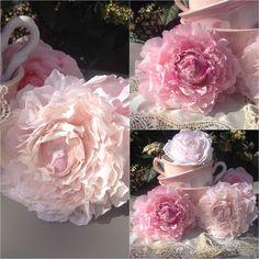 Découvrez comment créer des roses en papier avec un effet brocante et shabby