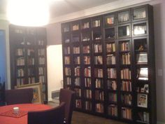 One of our specialties, building built-ins with IKEA Products (Library with IKEA Billy Bookcases)   Yelp