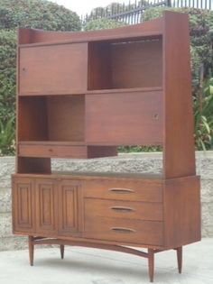 Los Angeles: rare Broyhill Sculptra CREDENZA and SHELVES ROOM DIVIDER $1350 - http://furnishlyst.com/listings/949284