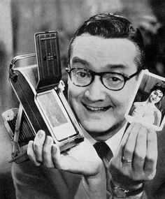 star of the Tonight Show on NBC-TV was a talented stand-up comic, musician, author, and songwriter. He often had trouble operating the early cameras, . Steve Allen, Nbc Tv, Polaroid Camera, Tonight Show, Stand Up, Movie Tv, Comedy, Tv Shows, Branding