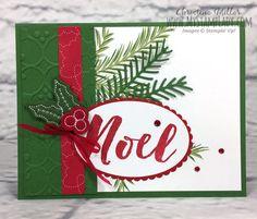 Christmas Pines Stitched Felt embellishments