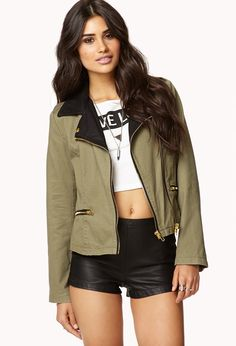 Desert Rebel Moto Jacket | FOREVER21 - $44.80