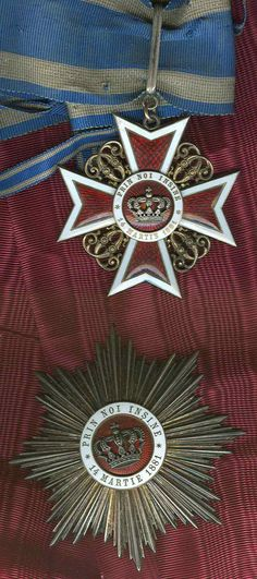 Romania Order of Crown Commander's Neck Badge with wrong ribbon, First type