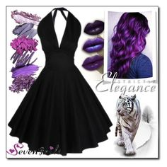 """""""Sevengrils 53 / 60"""" by selmamehic ❤ liked on Polyvore featuring Salsa and vintage"""