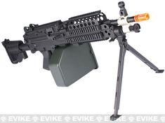 A&K Full Metal MK46 Airsoft Machine Gun with Retractable Stock