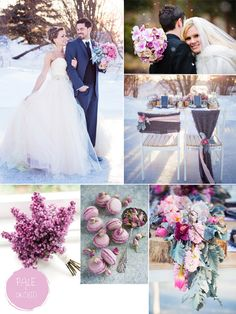 Hot Winter Wedding Color Combos White Silver Ice Blue Weddings And