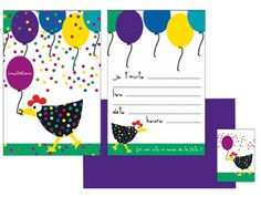 Carton d'invitation anniversaire ClémenceG.