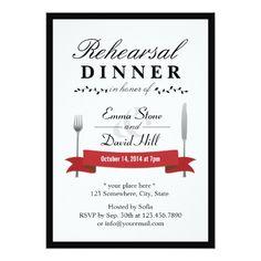 Formal Dinner Rehearsal Dinner Invitations Formal Black Border Rehearsal Dinner Invitations