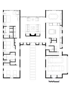 Hugh Newell Jacobsen Dream House for Sale. Simple Floor Plans, Cv Resume Template, Civil Engineering, House Plans, How To Plan, Life, Architecture, Living Room, Apartment Master Bedroom