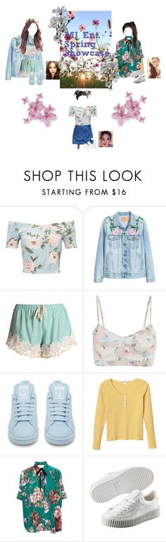 """""""Seulli; MJ Ent. Spring Showcase."""" by kay-anxns ❤ liked on Polyvore featuring Miss Selfridge, Live the Process, adidas, Monki, Gucci, Margarin Fingers and Puma"""
