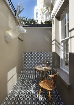 jazzing up a tiny patio with tile