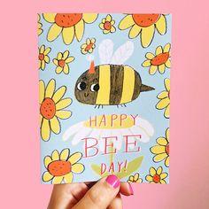 Happy Bee Day Birthday Greeting Card