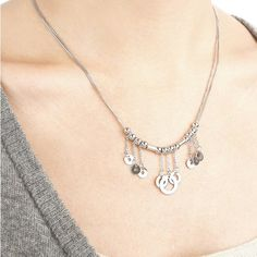 SILVERAGE Sterling Silver Bohemian Circle Pendant Necklace, 17.5''   Amazon.com