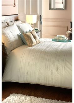 simplistic embroidered bedding