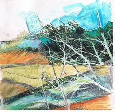 Our Muse: Cas Holmes is an award winning artist interested in the connections between land, place and environment. Trained in fine art, her works in mixed