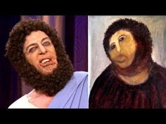 The REAL Jesus Defends His Spanish Portrait Restoration - CONAN on TBS