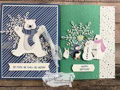 Christmas Card Crafts, Homemade Christmas Cards, Stampin Up Christmas, Christmas Minis, Fall Cards, Winter Cards, Stamping Up, Creative Cards, Stampin Up Cards