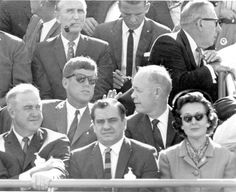 Florida Memory - President John F. Kennedy enjoying the Orange Bowl - Miami, Florida with Uncle Dante (center front)