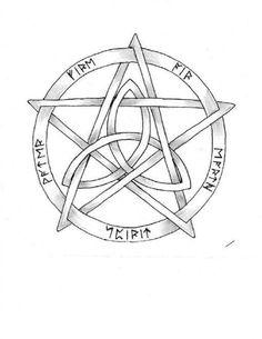 I love the pentacle-triquetra for a tattoo idea!