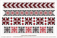 Semne Cusute: Romanian traditional motifs Folk Embroidery, Learn Embroidery, Cross Stitch Embroidery, Cross Stitch Patterns, Embroidery Designs, Crochet Hook Set, Moldova, Embroidery Techniques, Couture