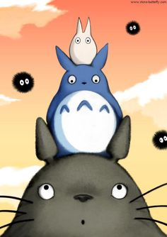 Stack of totoro / cute creatures