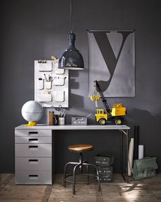 Purchase a LA Grey Desk at Room To Grow. We offer price match availability on the LA Grey Desk & free delivery available