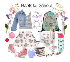 #PVxPusheen #BacktoSchool #Pusheen #cool by elisharogersresumes on Polyvore featuring polyvore fashion style Pusheen Betsey Johnson Clinique clothing contestentry PVxPusheen