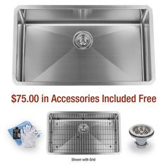 "Miseno MSS3219SR 32"" Undermount Single Basin Stainless Steel Kitchen Sink, 16 Gauge Stainless Steel Miseno http://www.amazon.com/dp/B00ICVCZUM/ref=cm_sw_r_pi_dp_t5ytub0GCH4XM"