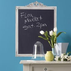 Why not let her write on the walls with this chalkboard decal!