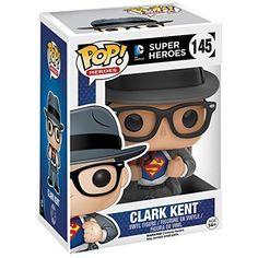 Funko Pop Heroes DC Super Heroes Clark Kent Vinyl Figure #145 Hot Topic Exclusive