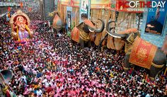 Upcoming Ganesh Festival in India Lalbaugcha Raja Pune Ganpati, Elephants Photos, Ganesh Statue, Bucket List Destinations, Udaipur, India Travel, Ganesha, Places To Visit, Fair Grounds