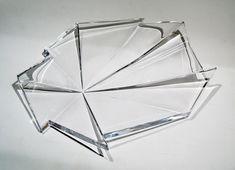 "NANNY STILL - Decorative glass object ""Jäänsärö"" 6491 designed 1967 for Riihimäen Lasi Oy, in production 1967-1970, Finland. [Ø 32 cm] Glass Design, Design Art, Fractals, Modern Contemporary, Retro Vintage, Finland"