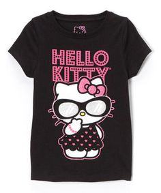 Another great find on #zulily! Hello Kitty Black & Pink 'Hello Kitty' Tee - Toddler & Girls by Hello Kitty #zulilyfinds