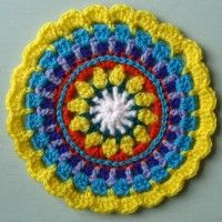 Crochet Mandala Wheel made by Deb, North Yorkshire, UK, for yarndale.co.uk