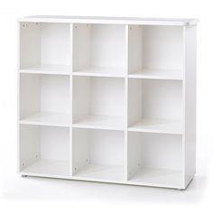 Walmart:  Jessie 6-Shelf Bookcase, White