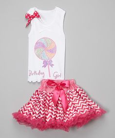 Look what I found on #zulily! Pink 'Birthday Girl' Tank & Pettiskirt - Infant, Toddler & Girls #zulilyfinds